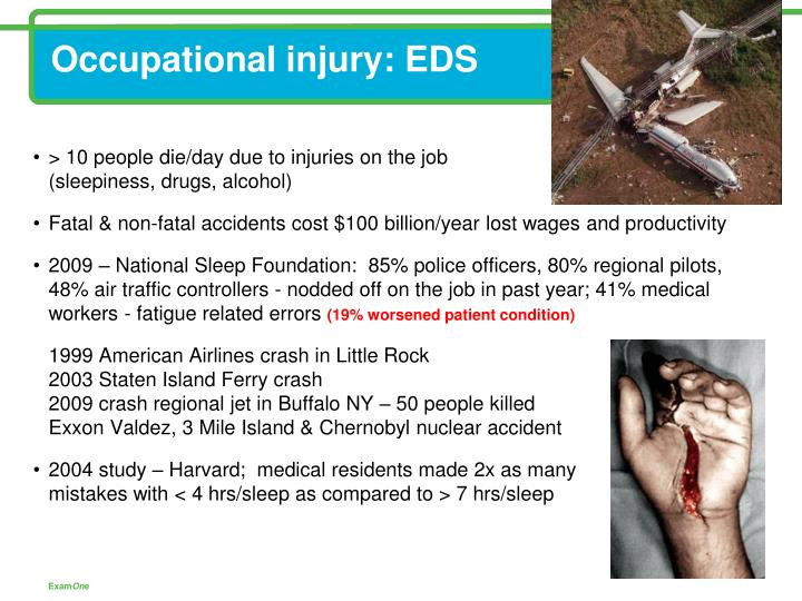 Occupational injury: EDS