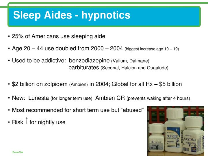 Sleep Aides - hypnotics