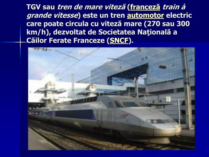 TGV sau