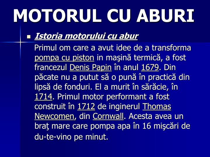 MOTORUL CU ABURI