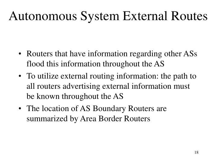 Autonomous System External Routes
