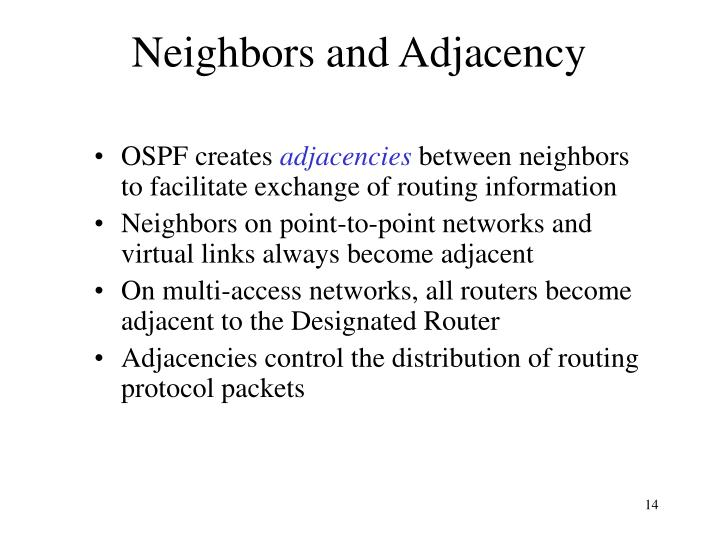 Neighbors and Adjacency