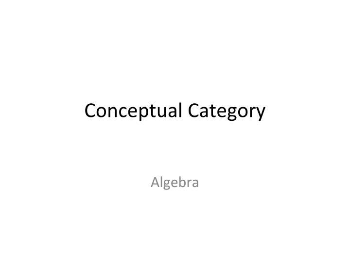 Conceptual Category