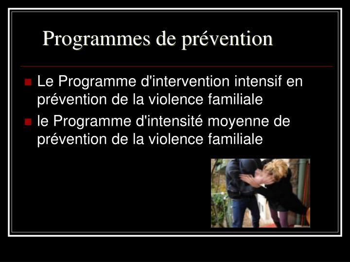 Programmes de prévention