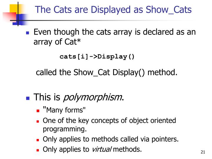 The Cats are Displayed as Show_Cats