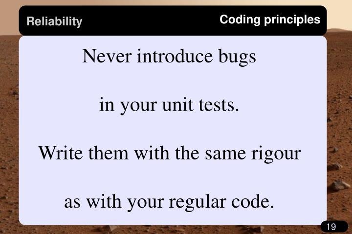 Coding principles