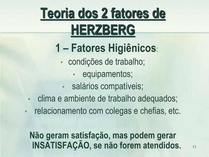 Teoria dos 2 fatores de HERZBERG