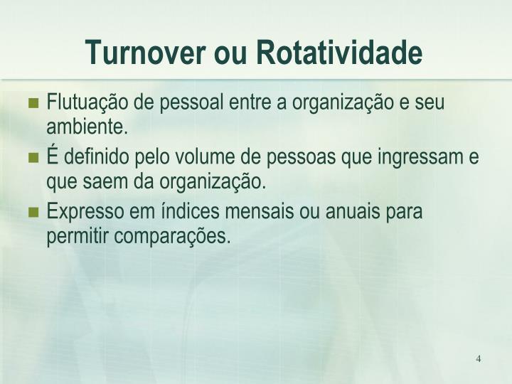 Turnover ou Rotatividade