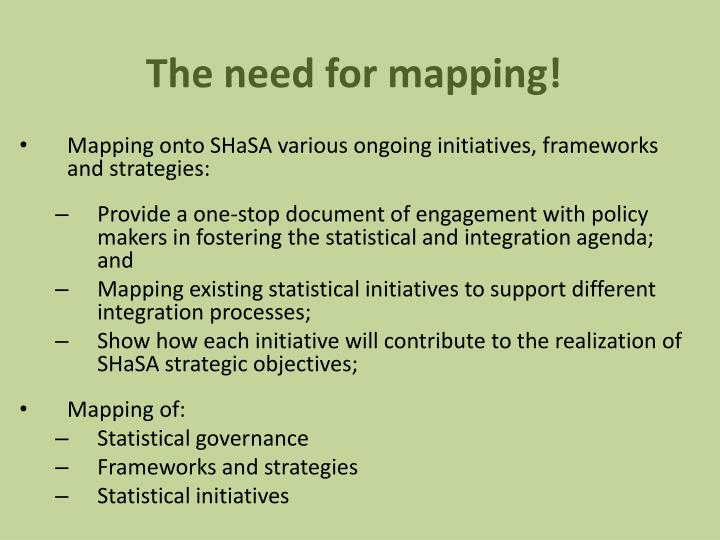 The need for mapping!
