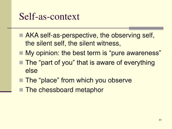 Self-as-context