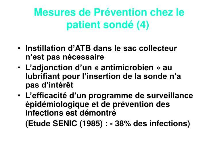 Mesures de Prévention chez le patient sondé (4)