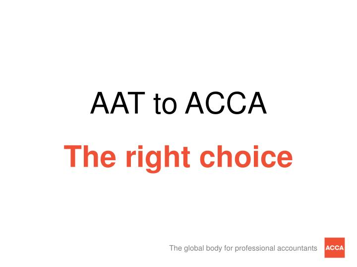 AAT to ACCA