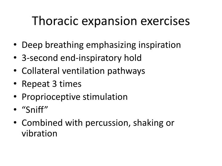 Thoracic expansion exercises