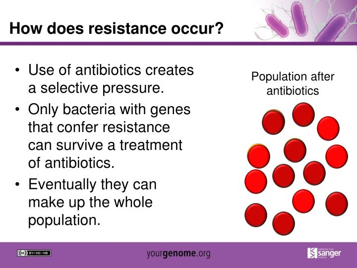 How does resistance occur?