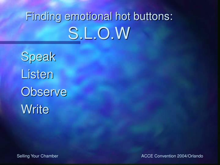 Finding emotional hot buttons: