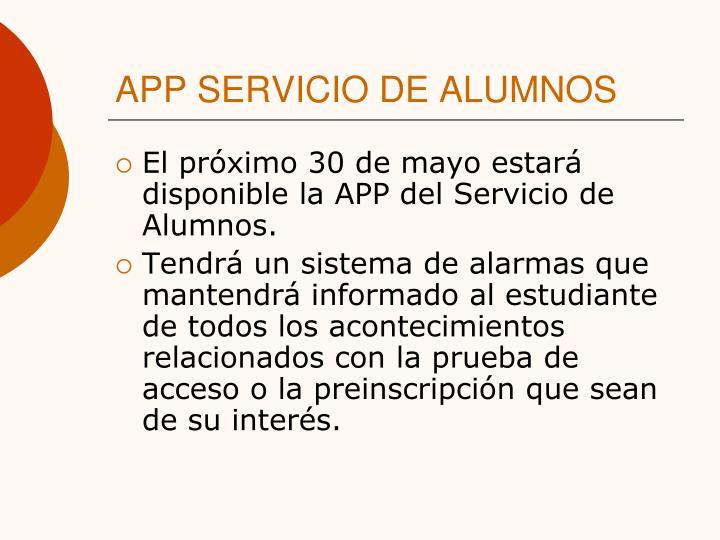APP SERVICIO DE ALUMNOS