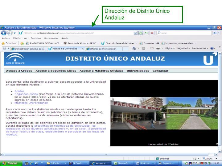 Dirección de Distrito Único Andaluz