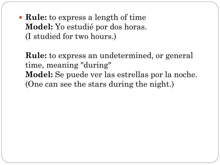 Rule: