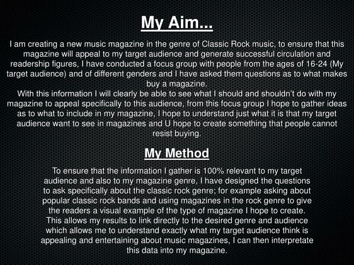 My Aim...