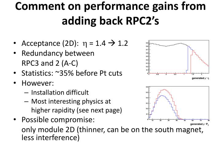 Comment on performance gains from adding back RPC2's