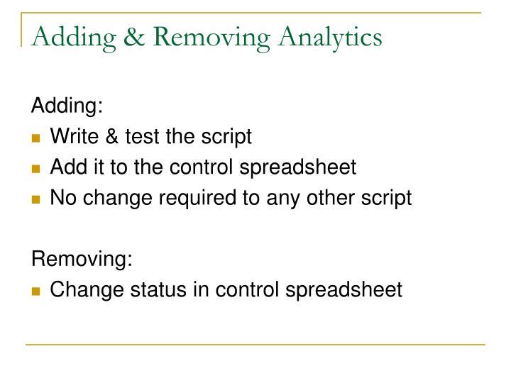 Adding & Removing Analytics