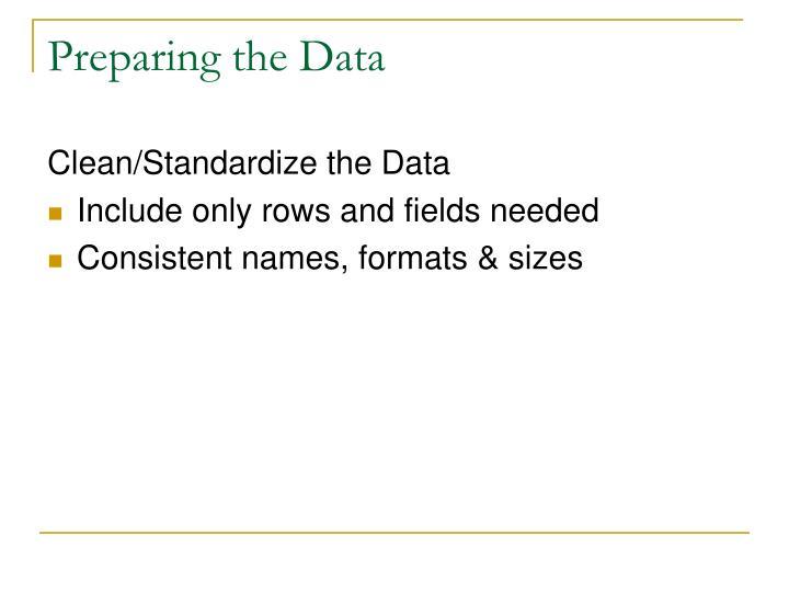 Preparing the Data