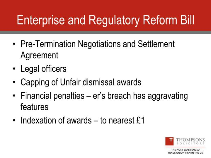 Enterprise and Regulatory Reform Bill