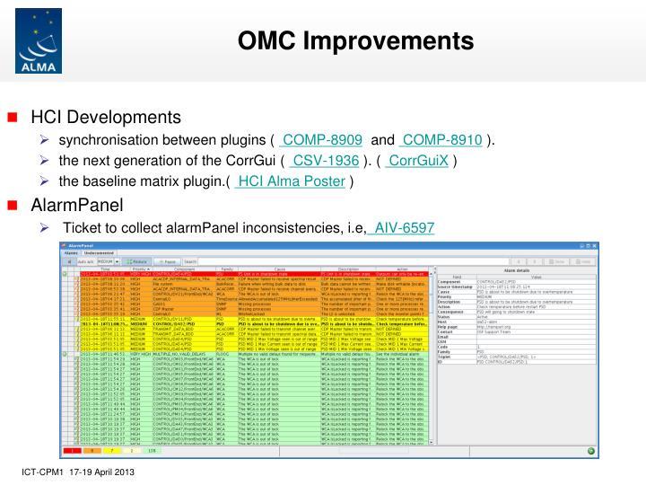 OMC Improvements
