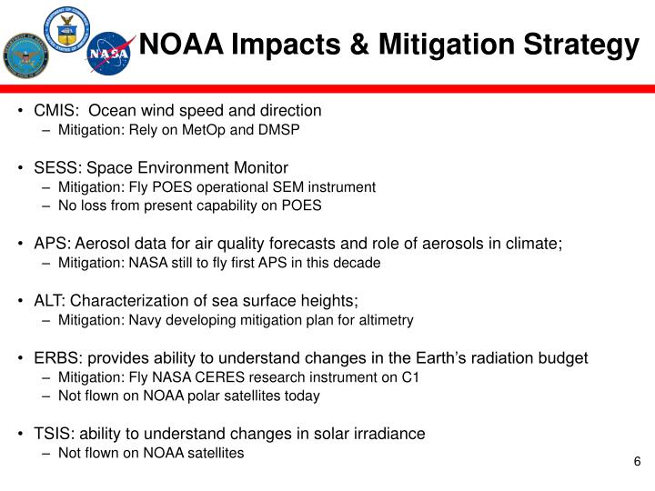 NOAA Impacts & Mitigation Strategy