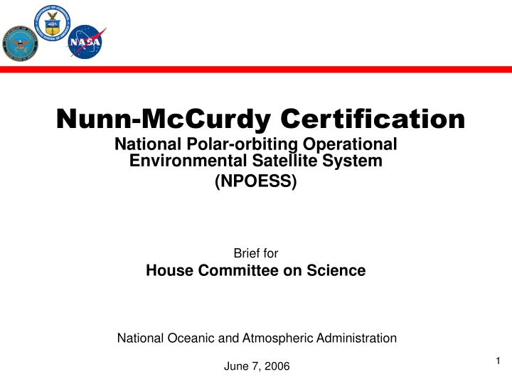 Nunn mccurdy certification