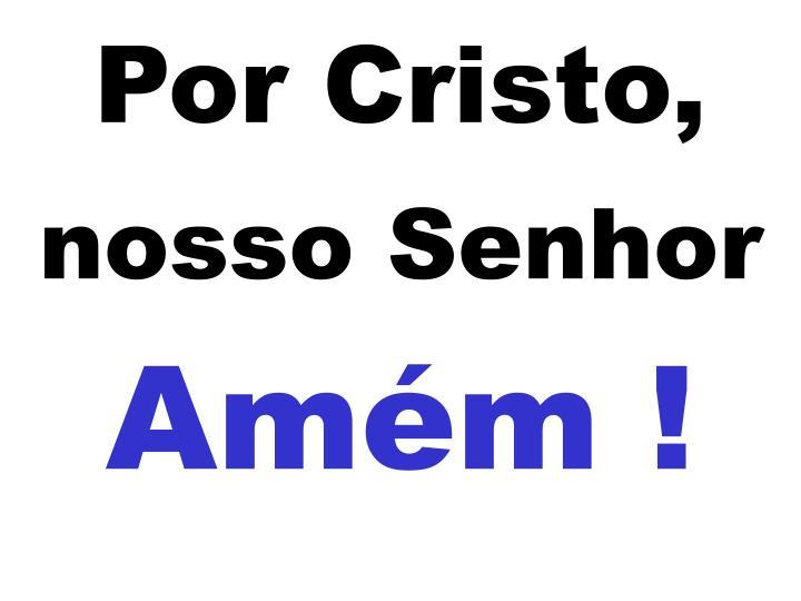 Por Cristo,