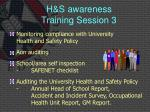 h s awareness training session 3