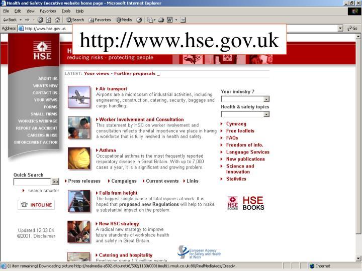 http://www.hse.gov.uk