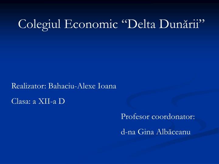 """Colegiul Economic """"Delta Dunării"""""""
