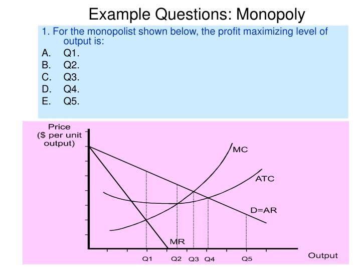 Example questions monopoly