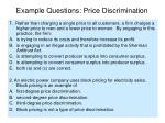 example questions price discrimination