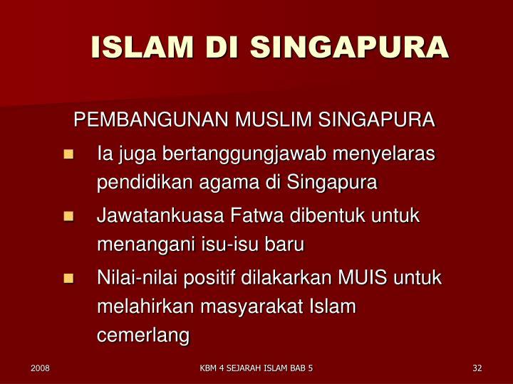 ISLAM DI SINGAPURA