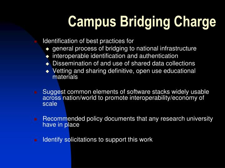 Campus Bridging Charge