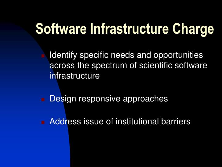 Software Infrastructure Charge