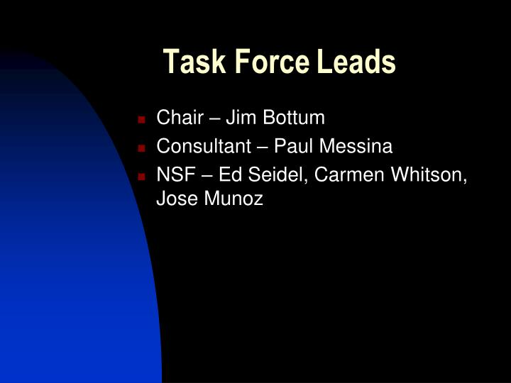 Task force leads