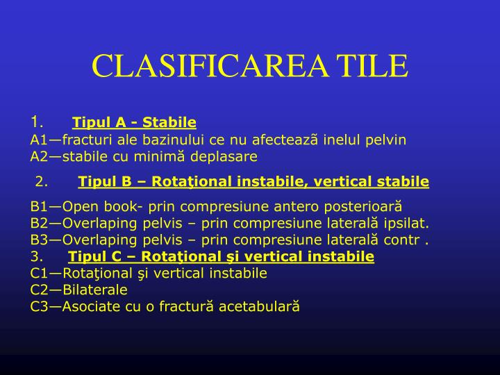 CLASIFICAREA TILE
