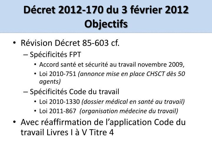 Décret 2012-170 du 3 février 2012