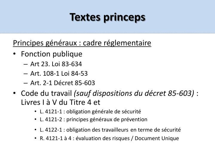 Textes princeps