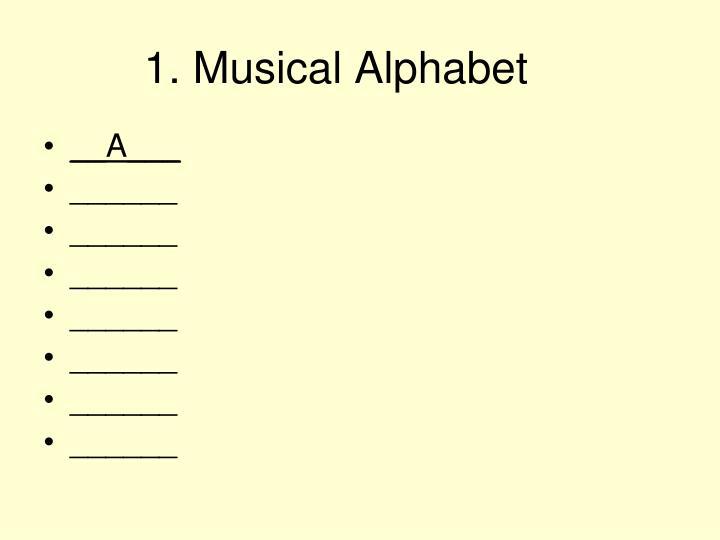 1. Musical Alphabet