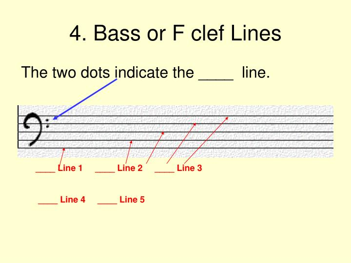 4. Bass or F clef Lines