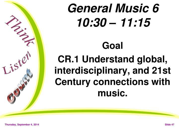 General Music 6