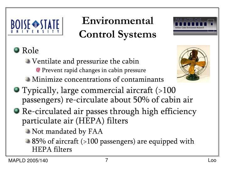 Environmental Control Systems : Ppt sin ming loo faa center of excellence for airliner