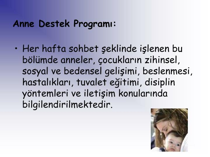 Anne Destek Program: