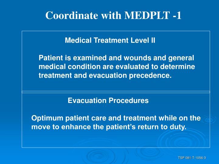 Coordinate with MEDPLT -1