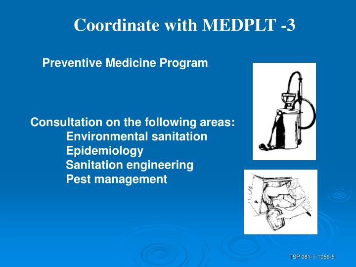 Coordinate with MEDPLT -3